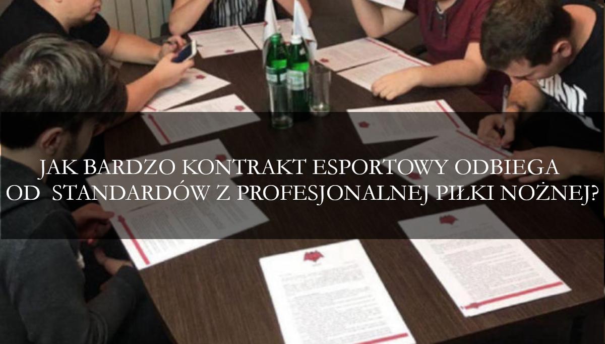 Kontrakt esportowy w świetle standardów z profesjonalnej piłki nożnej